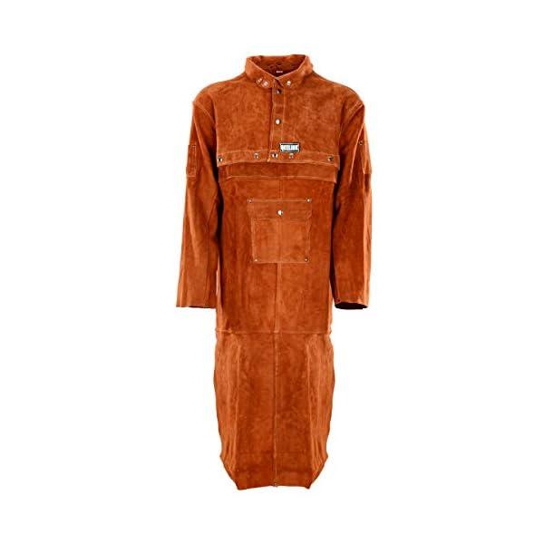 QeeLink Leather Welding Work Apron with Sleeve 2