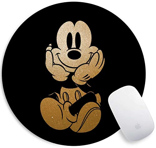 Mouse Pad Black Cute Mickey Gaming Funny Customized Cute Rubber Mousepad Laptop MouseMat for Desk