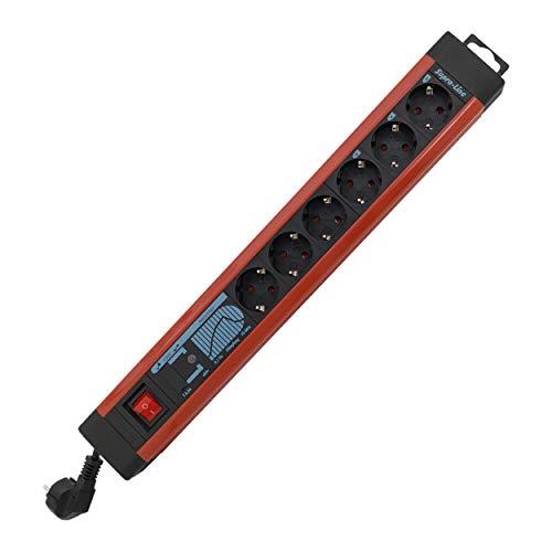 REV 0014663613 Supraline, Steckerleiste, 6fach Steckdosenleiste, Überspannungss. 3m, Kupfer