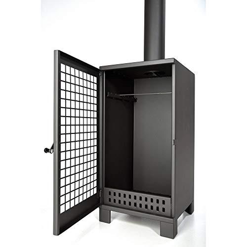 acerto 40485 Großer Terrassenofen aus Metall – zum Wärmen und Räuchern | Maße (BxHxT) = 40 x 80 x 40 cm | Material = 2mm Stahlblech | Gewicht = 26kg | Produktqualität Made in EU