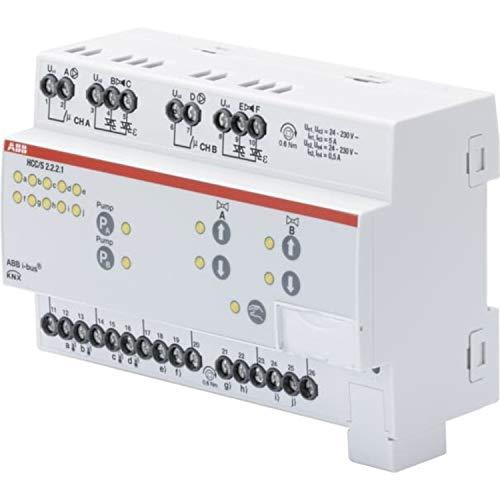 Controlador de circuito de calefacción y refrigeración, 2-f, 3 puntos, Man Op, MDRC, 6,3 x 7,2 x 9,2 centímetros, color blanco (referencia: HCC/S 2.2.2.1)