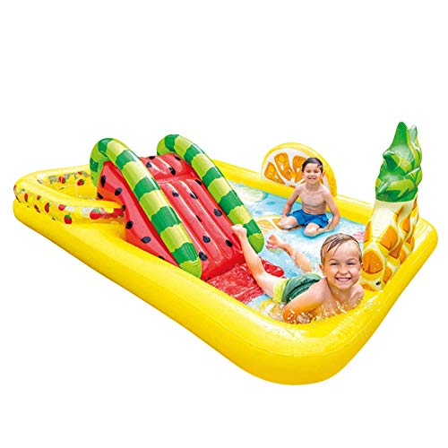 Centro de juegos de agua hinchable Play Center de juegos, piscina grande para niños, piscina rectangular para niños y niñas, fácil de montar