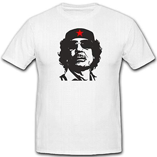 Muammar al Gaddafi Staatsoberhaupt Libyen Nordafrika König 2011 - T Shirt #7253, Größe:M, Farbe:Weiß