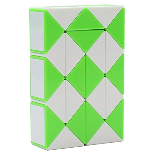 MZStech Magia Serpiente torcedura Juguete Puzzle Collection cuñas 24 Magia Regla (Verde)