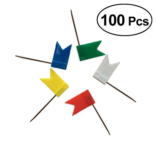 STOBOK Tachuelas mapa pines empuje bandera mapa 100