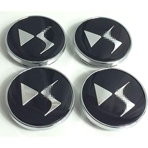 LOPLP Car Auto Wheel Center Cover Cubiertas de Cubo Cubiertas de Cubo de Rueda de Coche Cubiertas de Emblema de Insignia de Tapa de Cubo de llanta de Coche para Citroen DS, 60 mm, 4 Piezas