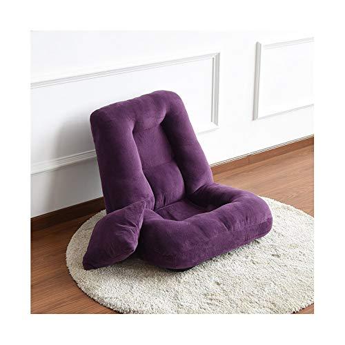 H-ei Lazy sofá Tatami habitación Individual sofá pequeño Plegable Ventana saliente Cama multifunción Silla Perezosa (Color : Purple)