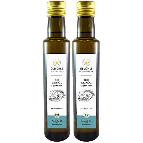 "Bio Leinöl ""Lignan Plus"" kaltgepresst 1000ml (2x500ml) aus Bio Leinsaat"
