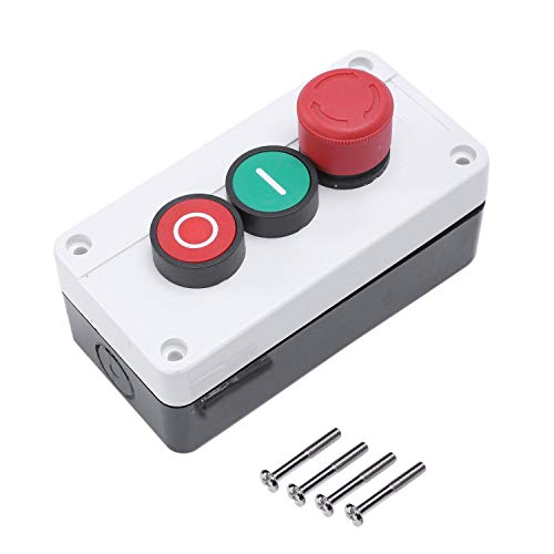 SATIC Momentaneo Interruptor NC de Parada de Emergencia NO Rojo Verde Estacion 600V 10A