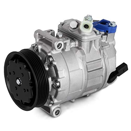 Mophorn Compresor de Aire Acondicionado Compresor de Aire Acondicionado de 12 V Auto Durable para Vol-ks-wa-gen LT/G-o-l-f y Compresor de Aire Acondicionado para Hyun-da
