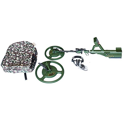Wkz Detector De Metales, Pantalla De Cristal Líquido LCD Oro Posicionamiento Y Tesoro De Plata Buscador De Precise Sonda De Prueba De Agua For Los Buscadores De Oro (Color : Green)