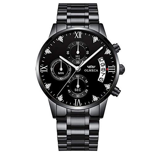Wyenliz Reloj de hombre original de moda multifunción de personalidad negocio de ocio a Fecha Correa de…
