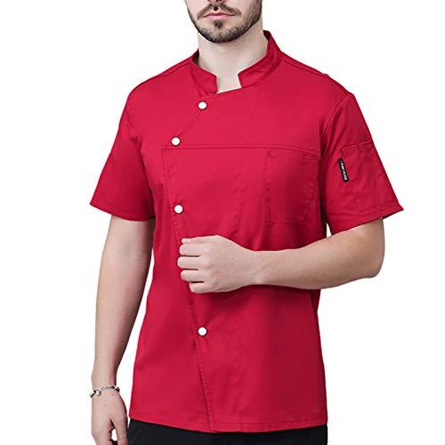 QQA Herren Bäckerjacke Feuchtigkeitstransport Hotel Arbeitskleidung Kostenloses Gravur-Logo