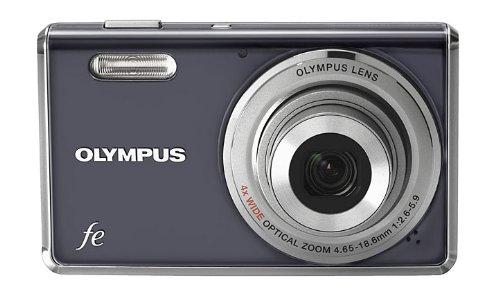 Olympus FE-4000 Digitalkamera (12 Megapixel, 4-Fach Opt. Zoom, 6,9 cm (2,7 Zoll) Display, Gesichtserkennung, i-Auto Mode, AF-Verfolgung) Dark Grey