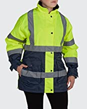 Utility Pro UHV664 Womens High-Vis Safety Jacket with Waterproof DuPont Teflon, Lime, Large