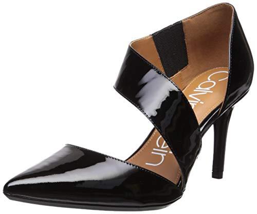 Calvin Klein Women's Gella Dress Pump, Black Patent, 10 Medium US