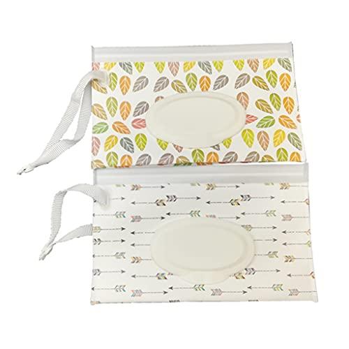 Moosunsa Bolsas de toallitas húmedas para bebés, 2 unidades, reutilizables, funda plegable,...