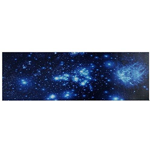 Mendler LED-Bild, Leinwandbild Leuchtbild Wandbild, Timer ~ 120x40cm Sternenhimmel