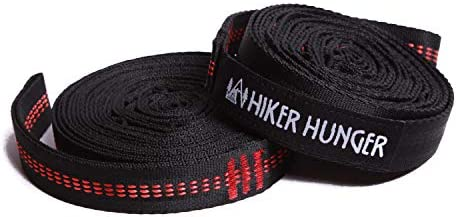 Hiker Hunger Outfitters Hammock Straps XL 10 Feet Hammock Tree Straps Set No Stretch Heavy Duty product image