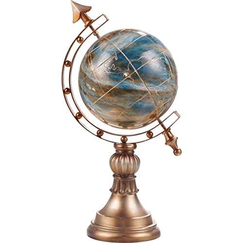 HXPBJ Figuren Globus Display Handwerk Desktop Welt Globus Kugel Ornament Kinder Pädagogisches Lernen 9.4X7.4X15.9 Zoll