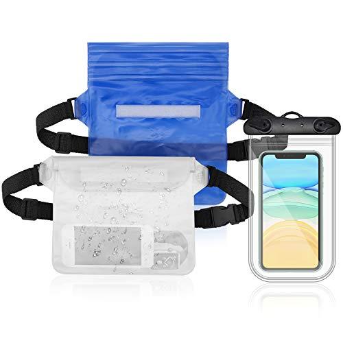 JJQHYC Conjunto de Bolsa Impermeable para Kayak y Playa Viene con Funda Impermeable Móvil Que Puede Usar Pantalla Táctil