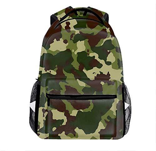 Laptop Backpacks Camo Wallpaper Men Women Travel Daypack Bag