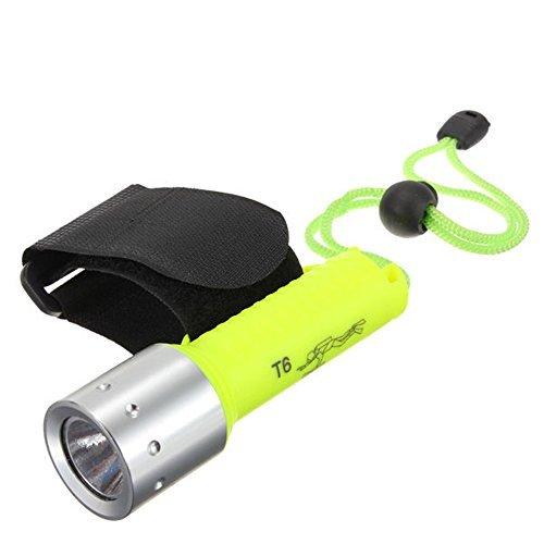arlybaba 800LM Lumen XML T6 LED étanche plongée sous-marine haute lampe 18650 lampe torche de plongée