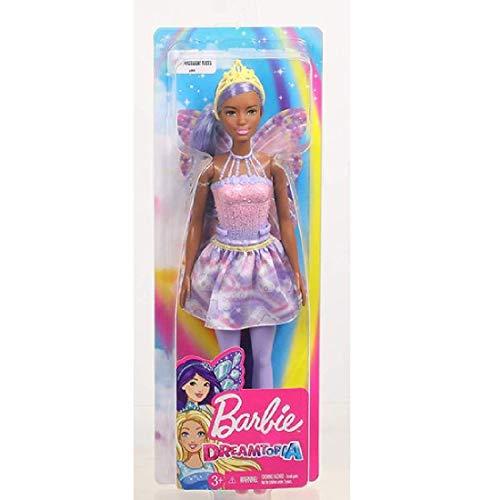 Barbie FXT02 - Dreamtopia Fee Puppe mit lila Haaren, Puppen Spielzeug und Puppenzubehör ab 3 Jahren