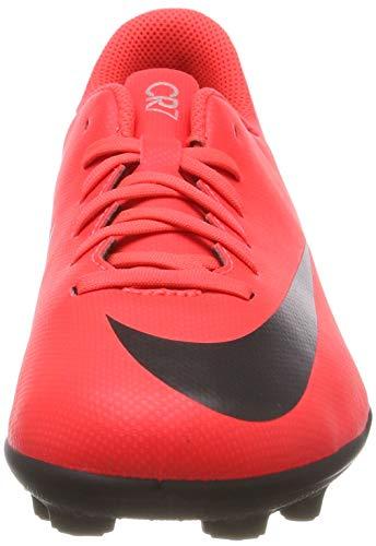 Nike Jr Vapor 12 Club GS Cr7 FG/MG, Zapatillas de Fútbol Unisex Adulto, Multicolor (Bright Crimson/Black/Chrome 600), 38.5 EU