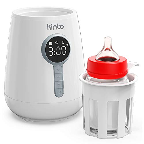 Baby Bottle Warmer for Breastmilk - Fast Heating Bottle Warmer for Baby Milk and Infant Formula - with Timer and Temperature Control - Easy to Use - Fits Most Baby Bottles