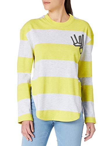 G-STAR RAW Striped Tweater Sudadera, Milk C718-c389-Camiseta de Manga Corta,