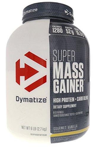 Dymatize Super Mass Gainer, Gourmet Vanilla, 6 Pound