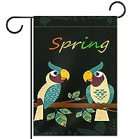 ホームガーデンフラッグ両面春夏庭の屋外装飾 12x18in,漫画の鳥
