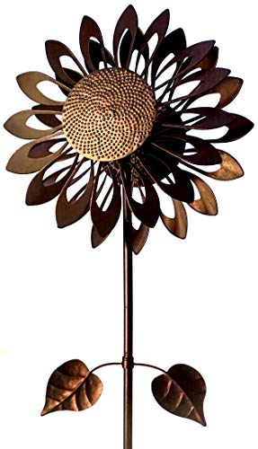 Southern Patio COS1900789 Sunflower Wind Spinner-73 Tall