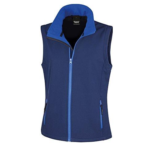 Result Core Damen Softshell-Weste, bedruckbar (XL) (Marineblau/Königsblau)