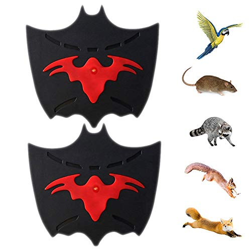 Insect Interference Cat Repellent Ultrasonic Animal Repeller Solar Battery Operated Fox Deterrent Cat Scarer Repellent for Gardens Rat Vole Raccoon Fox Rodent Snake Garden Utensils