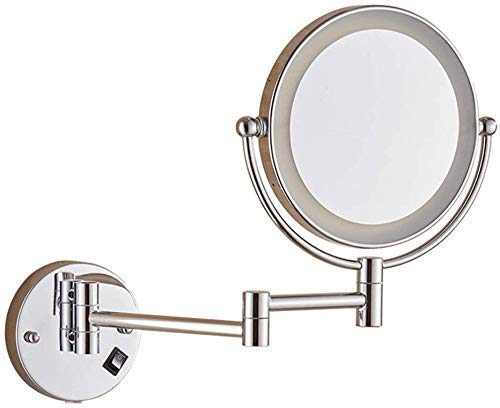 XYSQWZ Makeup Mirror Vanity Mirrors 8 Inch Lighted Beauty Mirror Best Luxury Quality Wall Mounted Folding Mirror Mirror Double Sided 7x Magnified Led Makeup Vanity Mirror