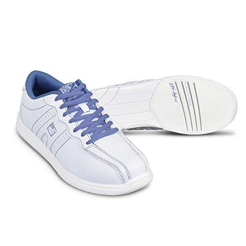 KR Strikeforce Women's O.P.P Bowling Shoes, White/Periwinkle, Size 7