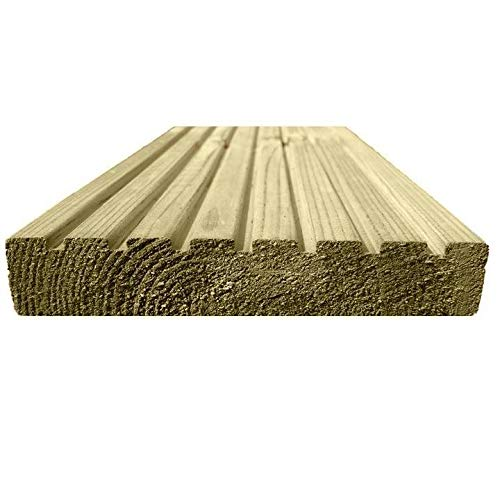 Ruby 123mm x 33mm 1.2M Treated Wooden Decking Boards (15)
