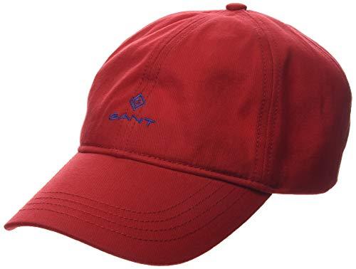 GANT Herren Contrast Twill Baseball Cap, Rot (Bright Red 620), One Size (Herstellergröße: Oversize)