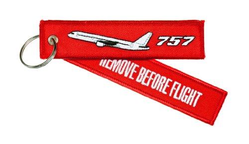 Schlüsselanhänger 'REMOVE BEFORE FLIGHT' -- BOEING 757 -- inkl. Schlüsselring