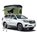KingCamp Rooftop Tent Hard Shell Tent for SUV Travel Pop-up Installation Tent Large Space Suitable for 2 People with Ladder & Waterproof Hard Shell Tent Overland Roof Top Tent