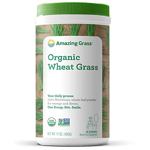 60-Servings 17-oz Amazing Grass Organic Wheat Grass Powder  $16 at Amazon