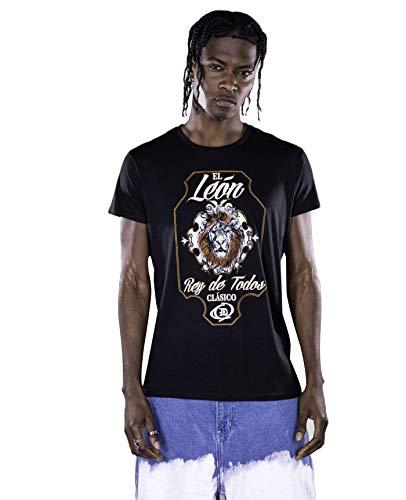 EL Leon Men'S DRYICE Organic Cotton Crew Neck TEE Black