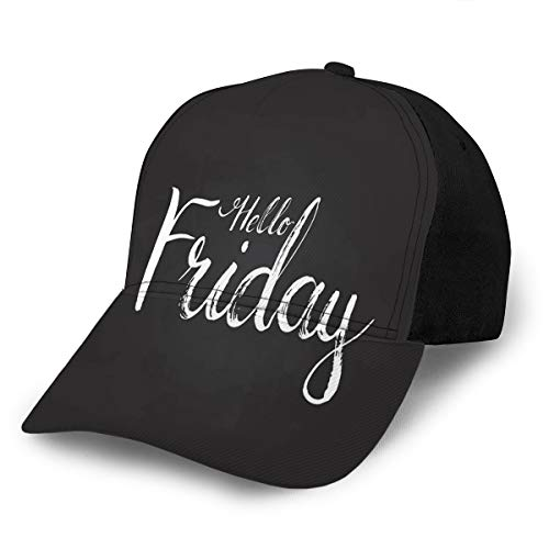 Kkyoxdiy Adult Adjustable Hello Friday The Black Modern Call Baseball cap Unisex
