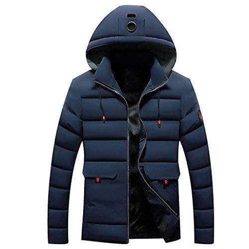 Plot Herren Steppjacke mit Kapuze Einfarbig Freizeit Winterjacke Modern Männer Casual Leichte Kapuzenjacke Stepp Jacken Sport Outwear Coat