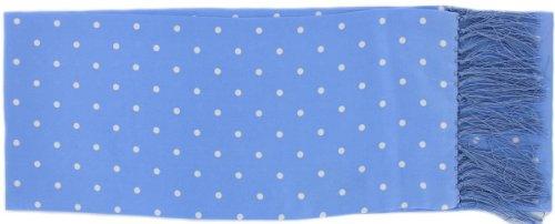 Michelsons of London Blue Ice étroite écharpe à pois en soie de