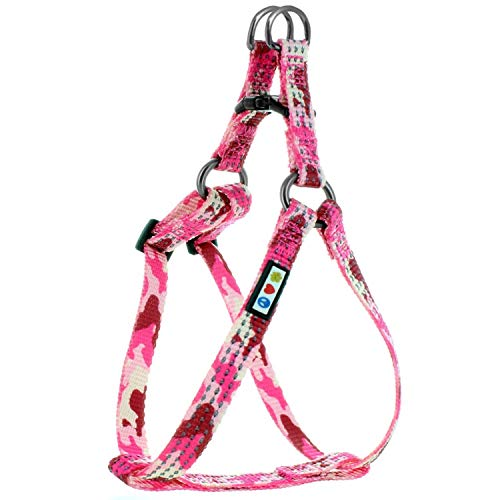 Pawtitas Reflective Step in Dog Harness or Reflective Harness Training Puppy Harness/Dog Extra Small Dog Harness XS Camo Pink Dog Harness