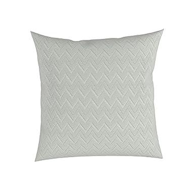 Silver 18  x 18  Cotton Decorative Throw Pillow in Chevron, Set of 2