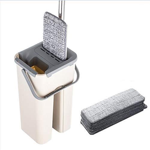 Piso sobre FRONEJE Conjunto AUTOMÁTICO MOP y Cubo Evitar Mano Lavado de Microfibra Limpieza de Microfibra Paño Plano Squereez Frife Lazy Frife (Color : 6pcs mop Cloth)
